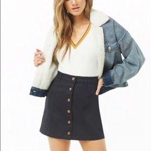 Front Button down Denim mini skirt size S